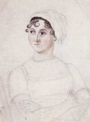 Cassandra Austen's portrait of Jane Austen (ac.1810)