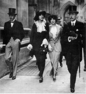 Harold Nicolson,Vita Sackville-West, Rosamund Grosvenor& Lionel Sackville-West, 1913