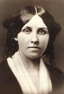 Louisa May Alcott young