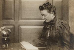 Sarah Orne Jewett at her desk