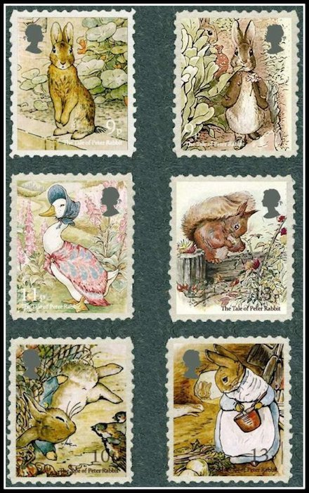 beatrix potter stamps Britain