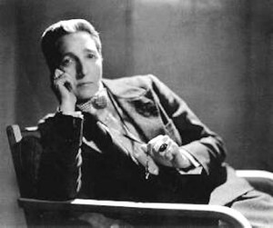 Radclyffe Hall in a suit