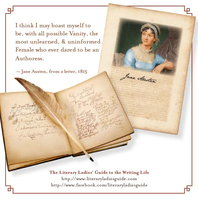 Jane Austen quote on being an author