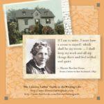 Harriet Beecher Stowe: A room to myself