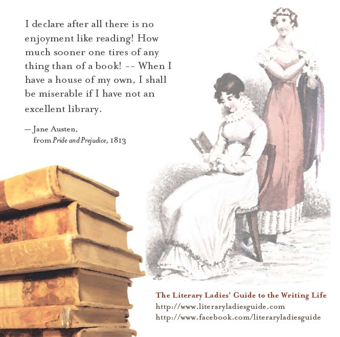 Jane Austen quote on books and reading