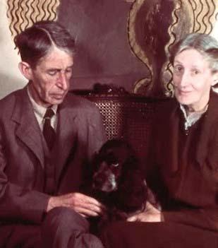 Virginia Woolf, Leonard Woolf, and dog