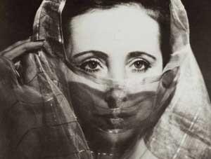 Anais Nin with veil