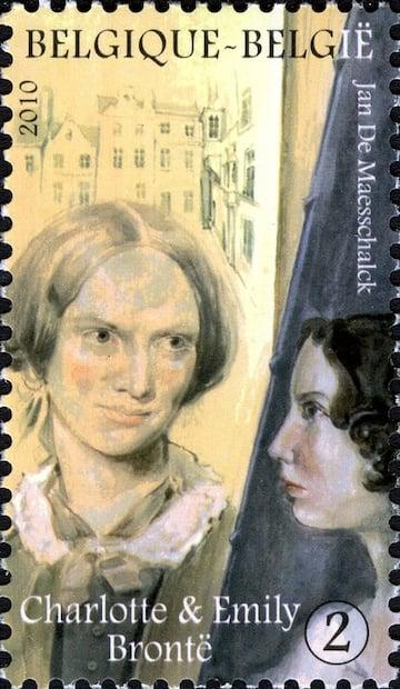 Charlotte and Emily Bronte postage stamp - Belgium