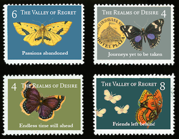 Butterfly stamps by Nava Atlas