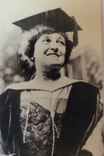 Edith Wharton receiving honorary doctorate from Yale, 1921
