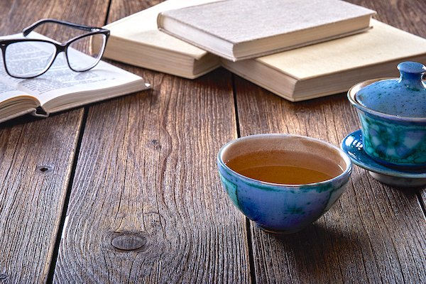 Still Life With Tea And Books