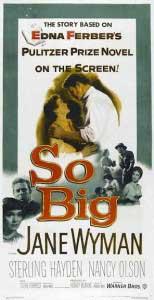So Big Movie Poster with Jane Wyman 1953