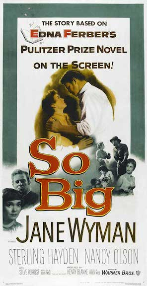 So Big Movie Poster with Jane Wyman 1953