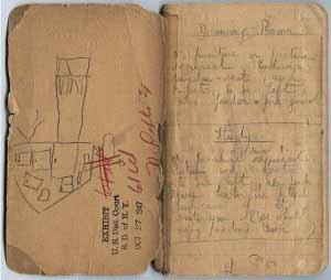 Daphne du Maurier's notebook