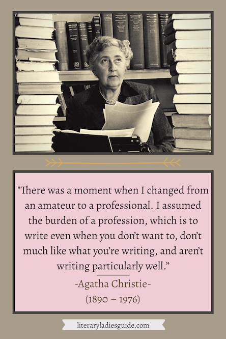Agatha Christie quotes on writing