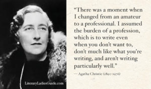 Agatha Christie quote on being a professional writer