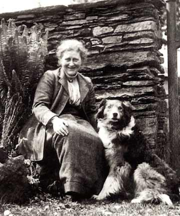 Beatrix potter and her dog