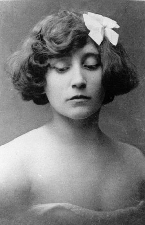 Colette - French author, young