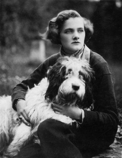 Daphne du Maurier and dog - 1936