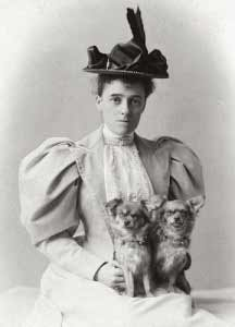 Edith Wharton and her dogs, 1889-1890