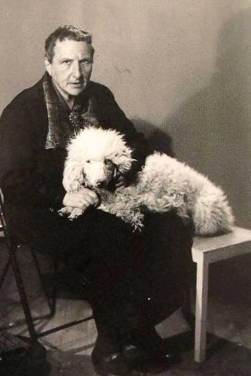 Gertrude Stein and her dog basket
