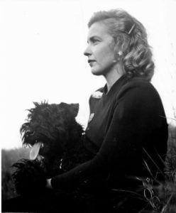 Margaret Wise Brown and her dog, Crispin's Crispian