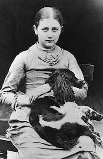 Young Beatrix Potter and dog