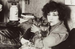 French author Colette with her cats