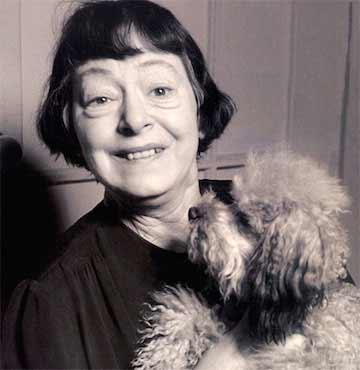 Dorothy Parker and her dog