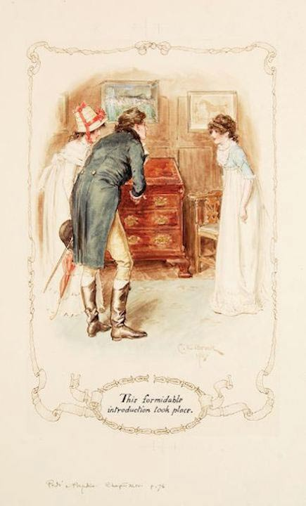 illustration from Pride & Prejudice by Brock