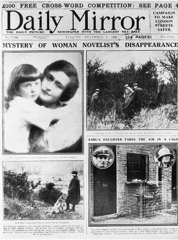 agatha christie 1926 disappearance