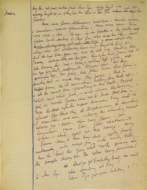 Draft of Mrs. Dalloway by Virginia Woolf