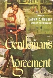Gentleman's Agreement 1947 book cover Laura Z. Hobson