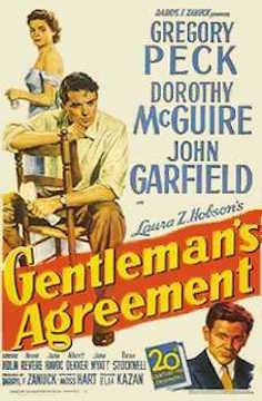 Gentleman's Agreement 1947 movie poster