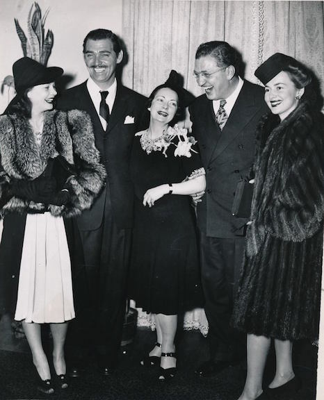 Margaret Mitchell with the cast of Gone with the Wind, 1939