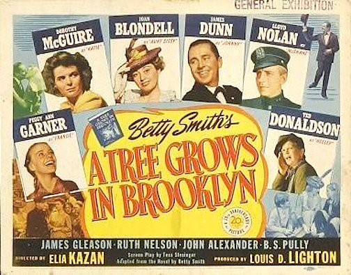 A Tree Grows In Brooklyn film 1945 film Poster