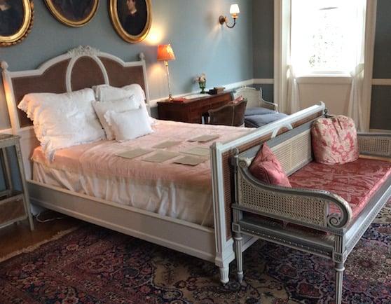 Edith Wharton's bedroom at the Mount