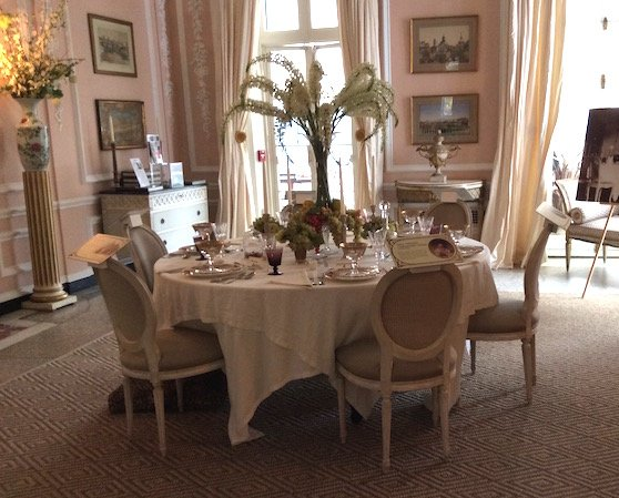 Edith Wharton's dining room at the Mount