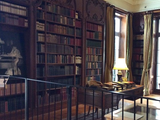 Edith Wharton's library at The Mount