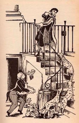 Illustration from the 1956 edition of Dodie Smith's The Hundred One Dalmatians - Janet and Anne Grahme-Johnstone