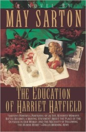The Education of Harriet Hatfield by May Sarton cover