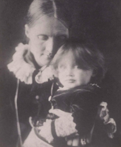 Virginia Woolf as a baby with her mother
