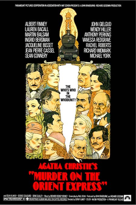 Murder on the Orient Express film poster 1974