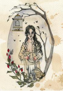 Bertha Rochester illustration from Jane Eyre