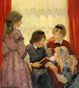 Little women illustration by Jessie Willcox Smith