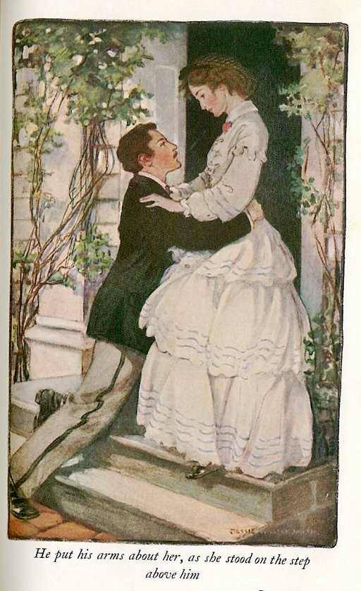 laurie and jo illustration from Little Women by Jessie Willcox Smith
