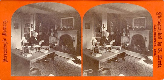 Bronson Alcott in his study at Orchard House