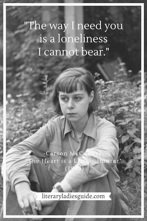 Carson McCullers quote from The Heart is a Lonely Hunter