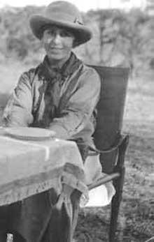 Karen Blixen (Isak Dinesen) in Kenya, 1918