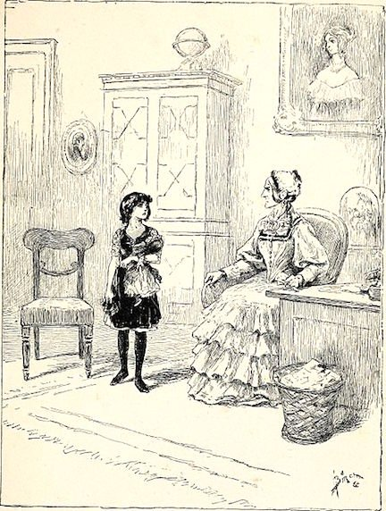 Illustration from Sara Crewe (1888)
